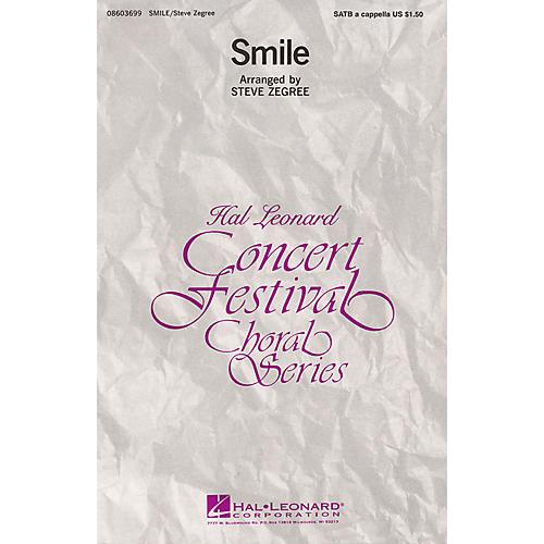 Hal Leonard Smile SATB a cappella arranged by Steve Zegree