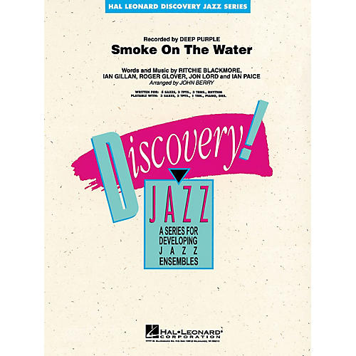 Hal Leonard Smoke on the Water Jazz Band Level 1-2 Arranged by John Berry