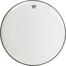 Smooth White Ambassador Bass Drumhead 18 in.