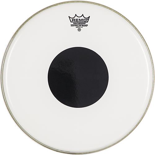 Remo Smooth White Control Sound Top Black Dot