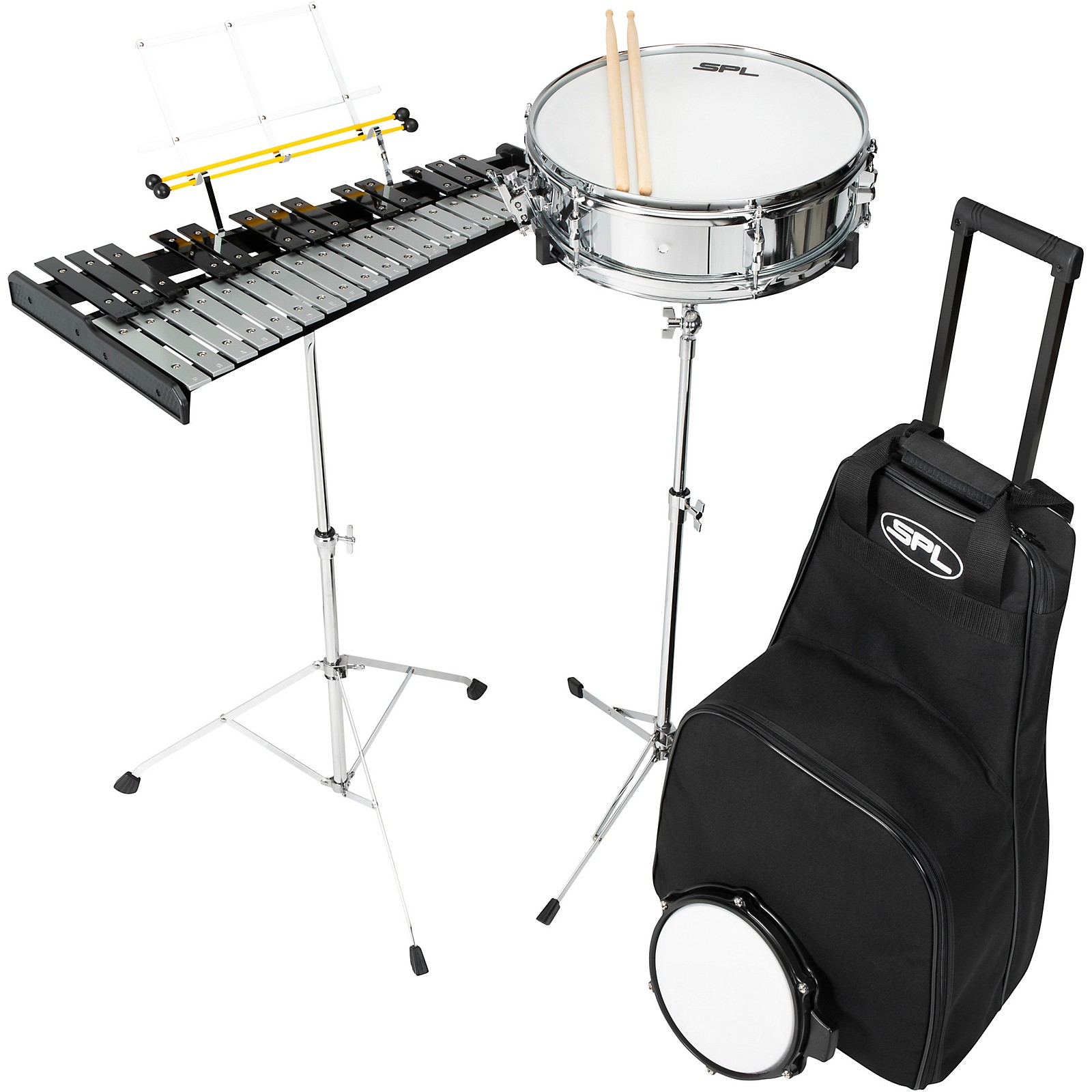 Sound Percussion Labs Snare and Bell Kit with Rolling Bag