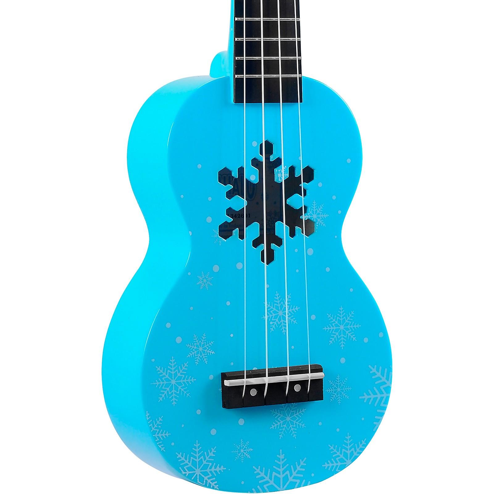 Mahalo Snowflake Soprano Ukulele Glacier Blue