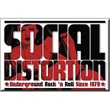 C&D Visionary Social Distortion Logo Magnet
