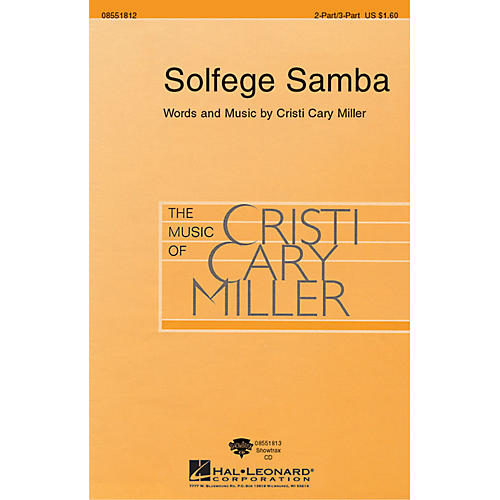Hal Leonard Solfege Samba ShowTrax CD Composed by Cristi Cary Miller
