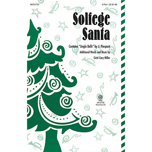 Hal Leonard Solfege Santa 2-Part composed by Cristi Cary Miller