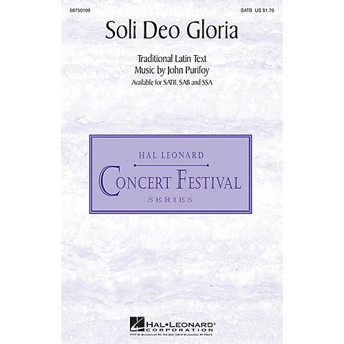 Hal Leonard Soli Deo Gloria SAB Composed by John Purifoy