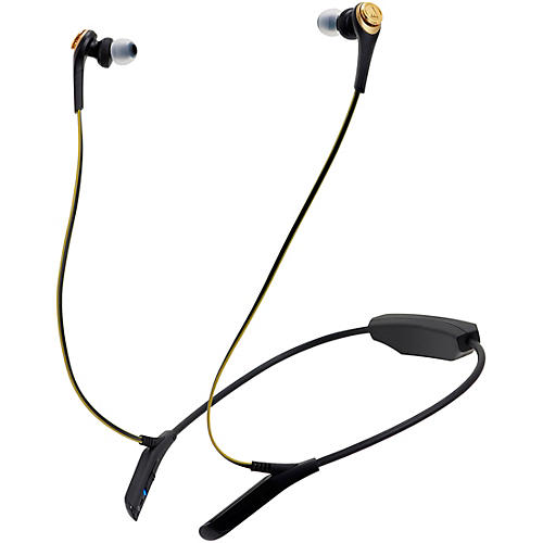 Audio-Technica Solid Bass In-Ear Bluetooth Headphones Condition 2 - Blemished Black Chrome/Gold 190839584687