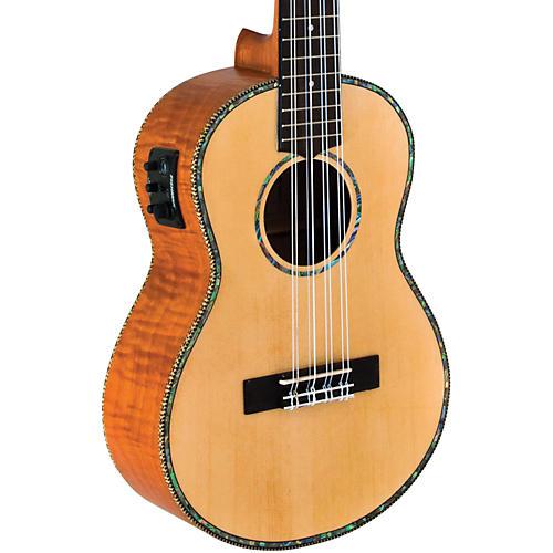 Lanikai Solid Spruce/Okume 8-String Tenor Acoustic-Electric Ukulele
