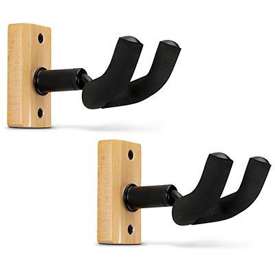 Proline Solid Wood Guitar Hanger - Natural, 2-Pack