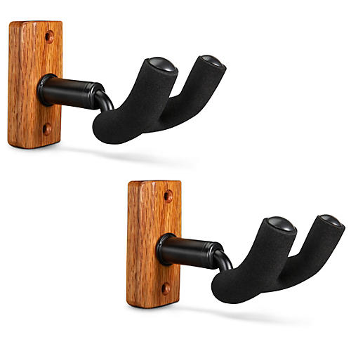 Proline Solid Wood Guitar Wall Hanger - Mahogany, 2-Pack