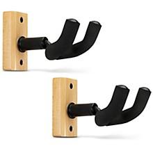 Proline Solid Wood Ukulele/Mandolin Wall Hanger - Natural, 2-Pack