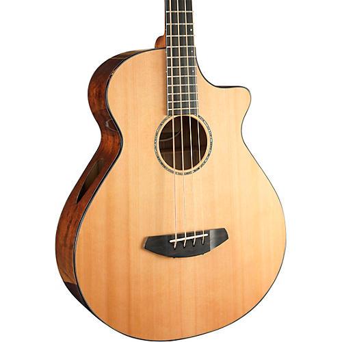 Breedlove Solo Jumbo Cutaway CE Acoustic-Electric Bass Guitar Natural