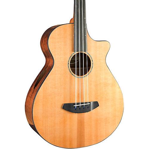 Breedlove Solo Jumbo Fretless Cutaway CE Acoustic-Electric Bass Guitar Natural