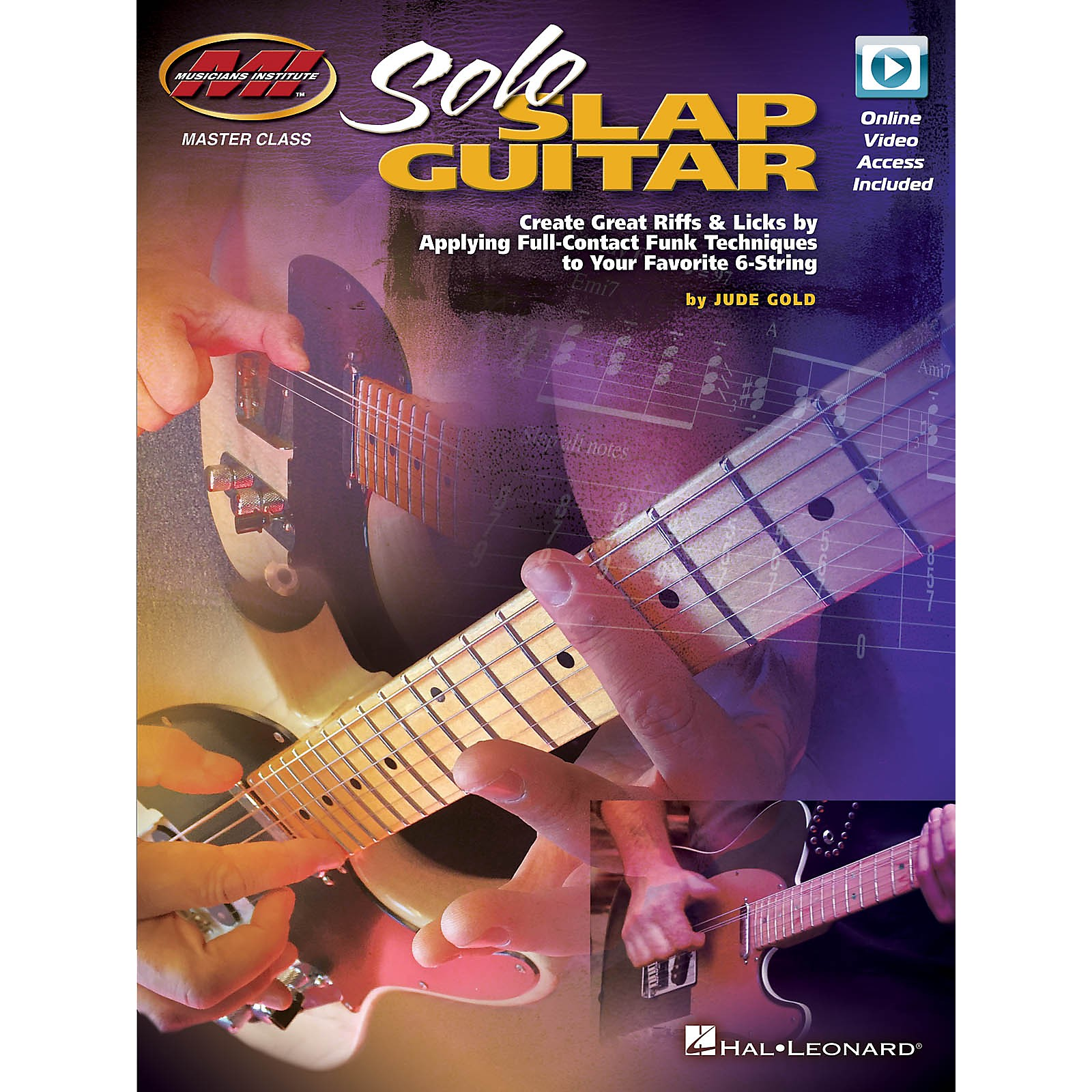 Musicians Institute Solo Slap Guitar Musicians Institute Press Series Softcover Video Online Written by Jude Gold