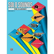 Alfred Solo Sounds for Clarinet Levels 1-3