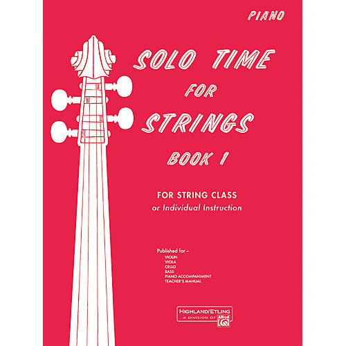 Alfred Solo Time for Strings Book 1 Piano Acc.