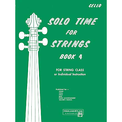 Alfred Solo Time for Strings Book 4 Cello