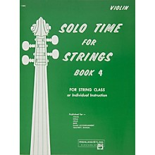 Alfred Solo Time for Strings Book 4 Violin