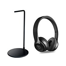 Beats By Dre Solo3 Wireless Headphones Gloss Black with Headphone Stand