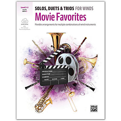 Alfred Solos, Duets & Trios for Winds: Movie Favorites Flute/Oboe Book & CD 2-3