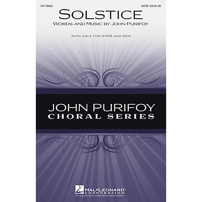 Hal Leonard Solstice SSA Composed by John Purifoy