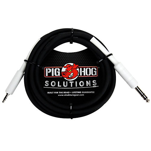Pig Hog Solutions 1/4 TRS to 1/8 Mini Adapter Cable 6 ft.