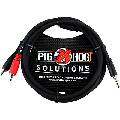 Pig Hog Solutions Stereo Breakout Cable 3.5 mm to Dual RCA