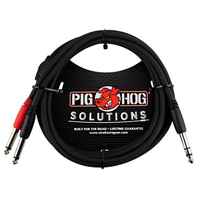 """Pig Hog Solutions TRS(M) to Dual 1/4"""" Insert Cable"""