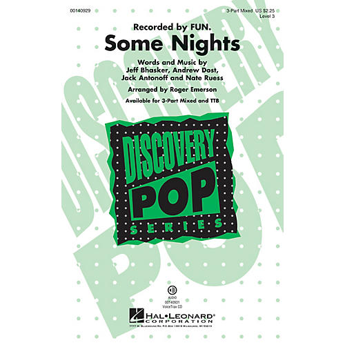 Hal Leonard Some Nights (Discovery Level 3) 3-Part Mixed arranged by Roger Emerson