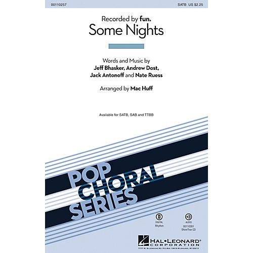 Hal Leonard Some Nights (TTBB) TTBB by fun. Arranged by Mac Huff