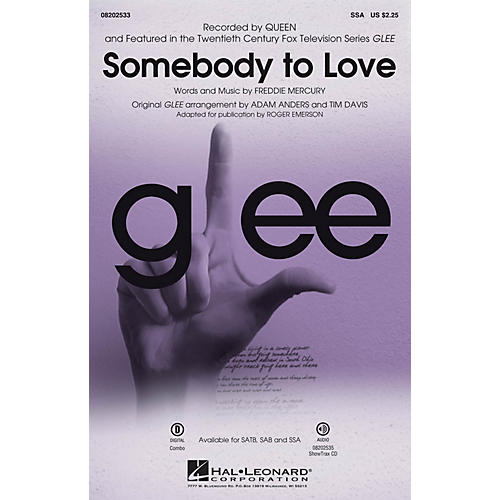 Hal Leonard Somebody to Love (from Glee) SSA by Queen arranged by Roger Emerson