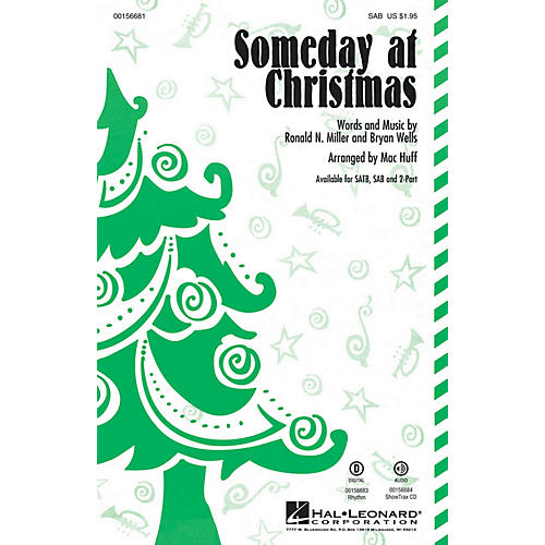 Hal Leonard Someday at Christmas SAB by Stevie Wonder arranged by Mac Huff