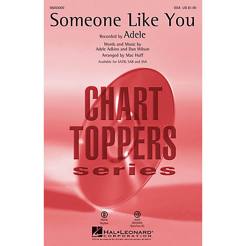 Hal Leonard Someone Like You SSA by Adele arranged by Mac Huff