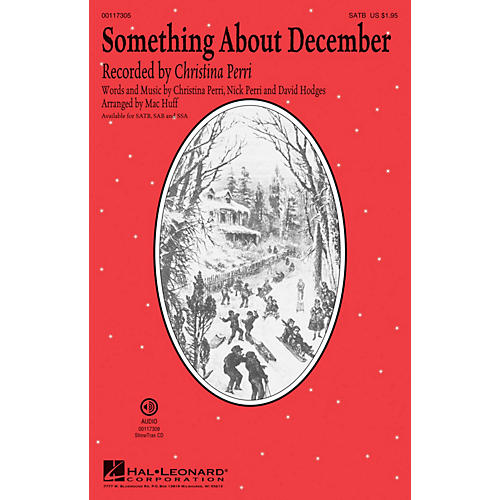 Hal Leonard Something About December SAB by Christina Perri Arranged by Mac Huff