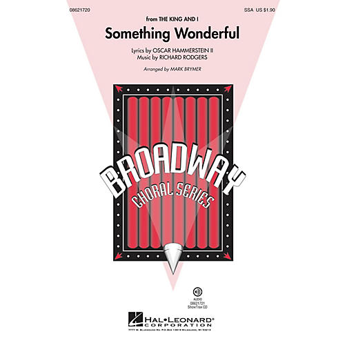 Hal Leonard Something Wonderful (from The King and I) ShowTrax CD Arranged by Mark Brymer