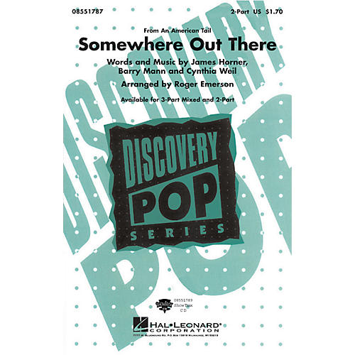 Hal Leonard Somewhere Out There 3-Part Mixed Arranged by Roger Emerson