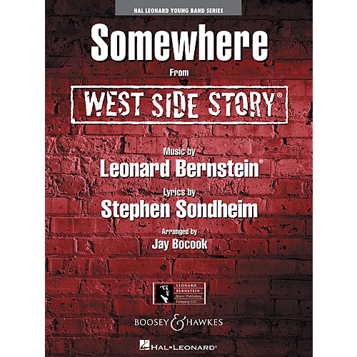 Hal Leonard Somewhere (from West Side Story) Full Score Concert Band Level 3 Arranged by Jay Bocook