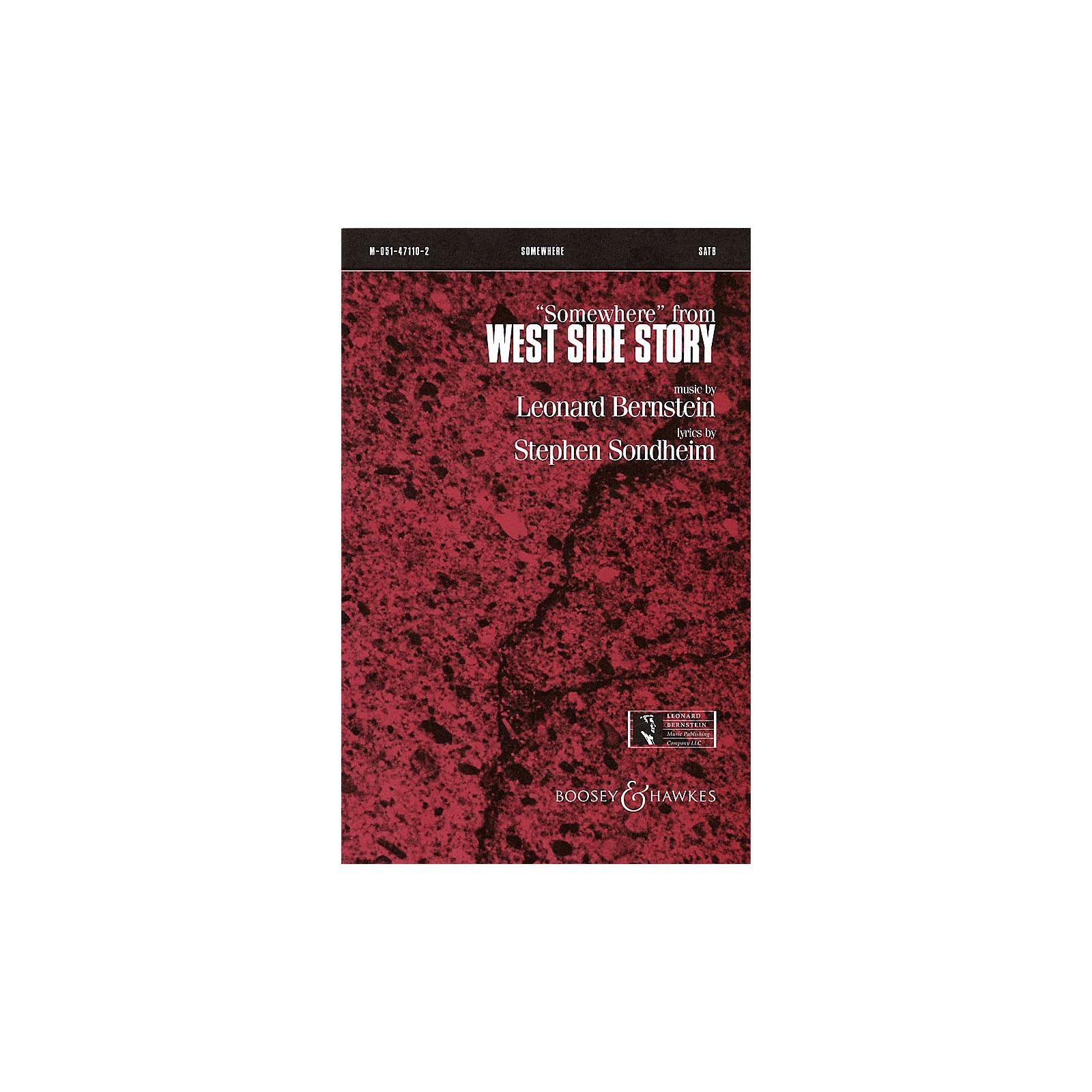 Leonard Bernstein Music Somewhere (from West Side Story) (SATB) SATB Arranged by William Stickles