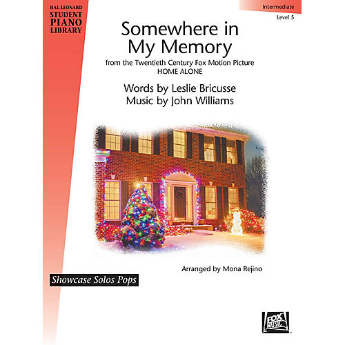 Hal Leonard Somewhere in My Memory (from Home Alone) Piano Library Series by Leslie Bricusse (Level Inter)