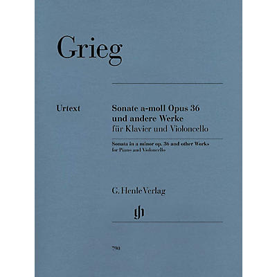 G. Henle Verlag Sonata A minor Op. 36 and Other Works (Cello and Piano) Henle Music Folios Series Softcover