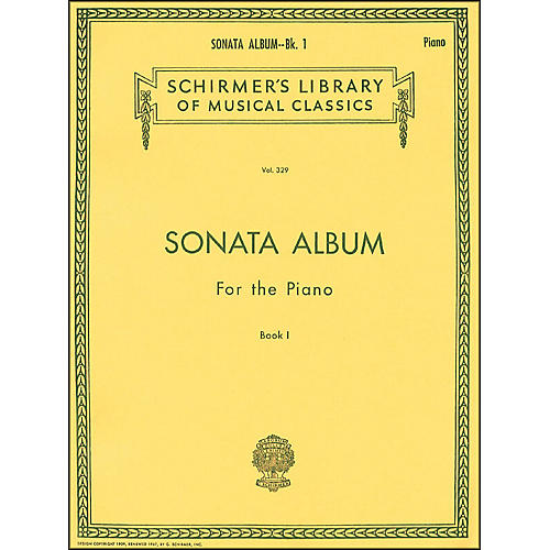 G. Schirmer Sonata Album Book 1 for Piano - 15 Sonatas By Haydn, Mozart And Beethoven