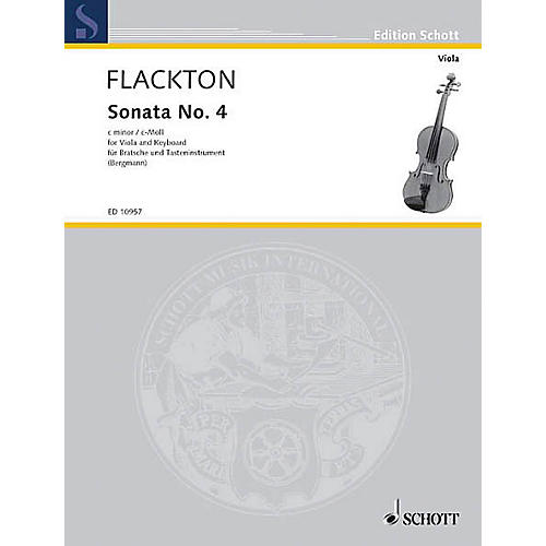 Schott Sonata C Minor, Op. 2, No. 8 Schott Series Composed by William Flackton Arranged by Walter Bergmann