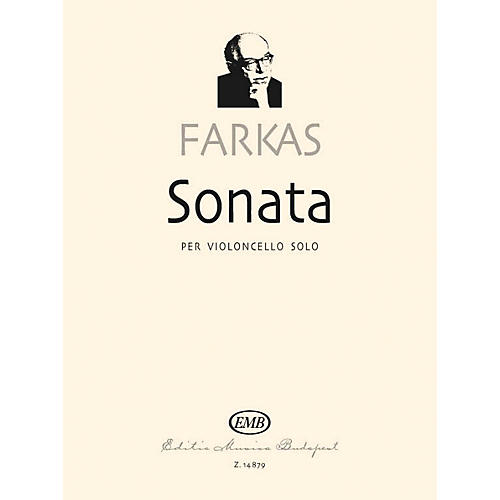Editio Musica Budapest Sonata (Cello Solo) EMB Series Softcover