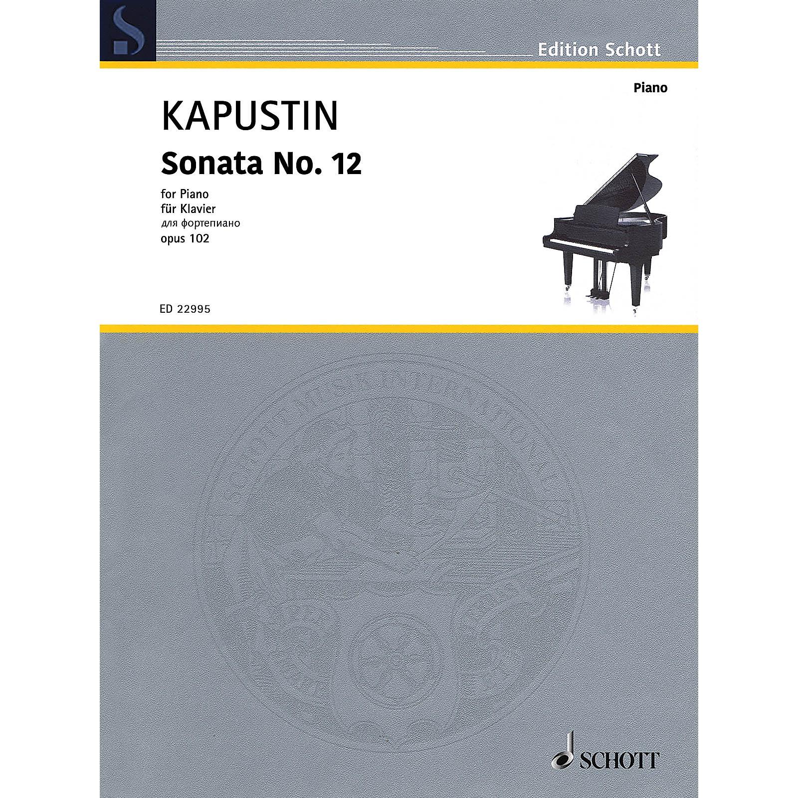 Schott Sonata No. 12, Op. 102 (Piano Solo) Piano Solo Series Softcover