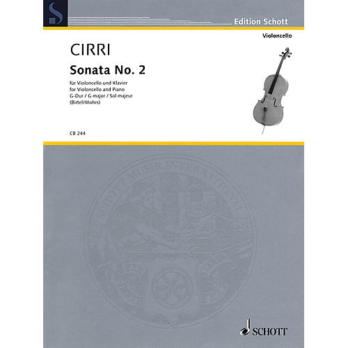 Schott Sonata No. 2 in G Major Schott Softcover Composed by Giovanni Battista Cirri Edited by Rainer Mohrs
