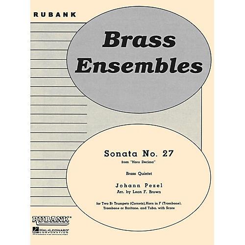 Rubank Publications Sonata No. 27 (from Hora Decima) (Brass Quintet - Grade 2) Rubank Solo/Ensemble Sheet Series