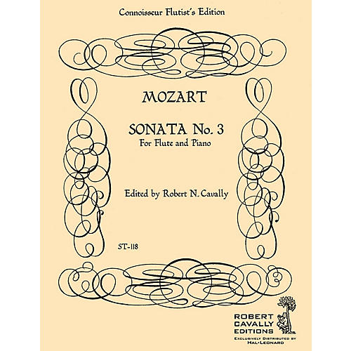 Hal Leonard Sonata No. 3 in A Major (Connoisseur Flutist's Edition) Robert Cavally Editions Series by Robert Cavally