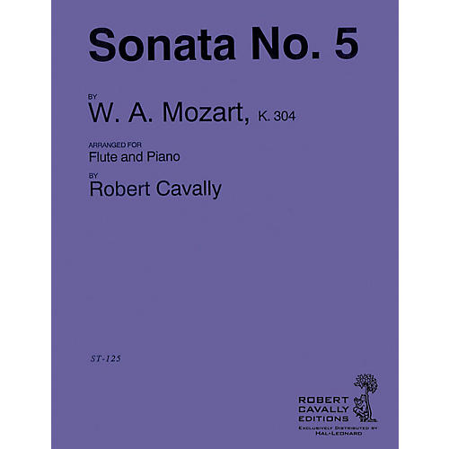 Hal Leonard Sonata No. 5 in E minor (Connoisseur Flutist's Edition) Robert Cavally Editions Series by Robert Cavally
