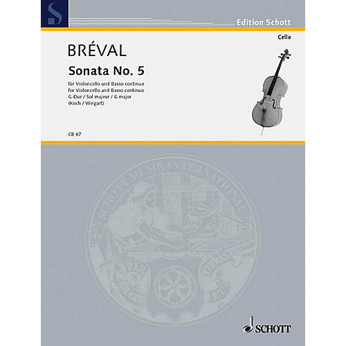 Schott Sonata No. 5 in G Major (Cello and Piano) Schott Series