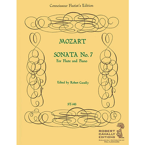 Hal Leonard Sonata No. 7 in Eb (Connoisseur Flutist's Edition) Robert Cavally Editions Series by Robert Cavally